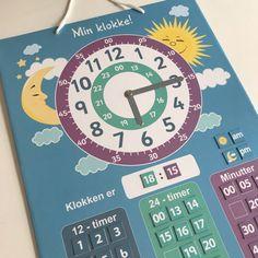 Et supert hjelpemiddel til barna for å lære og forstå klokka 👍🏻  Brikkene er magnetisk og lar seg enkelt flytte rundt. Både analog og digital klokke. Barn, Creative, Converted Barn, Barns, Shed, Sheds