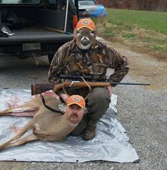 This man and a deer   30 Most Disturbing Face Swaps Of 2012