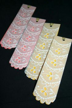 Parchment bookmarks made by Diljeet Kaur