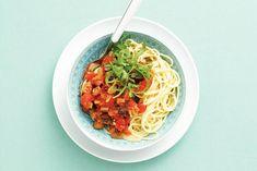 Kijk wat een lekker recept ik heb gevonden op Allerhande! Spaghetti tonijnsaus