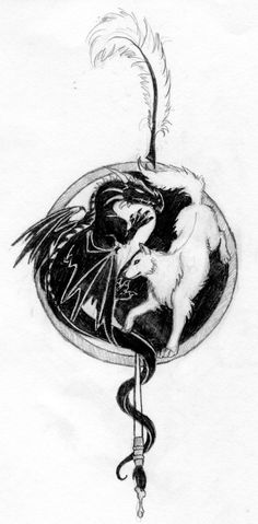 dragon and wolf art - Google Search