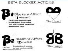 "**Reblog** Cardiac & pharm. bloopz: "" This is soo helpful when remembering Beta Blockers (cardiovascular medication). B1- affects the heart (heart is 1 organ) B2- affects the lungs (there are 2 lungs) """