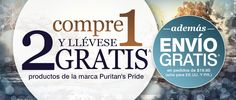 Si compras 1 producto, ¡te damos dos gratis!   ¡Envío gratis a PR y USA en pedidos de 19,95$ o más! http://es.puritan.com/a-z/los-mas-vendidos/?scid=29139