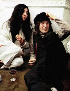"magnifique-john: "" John Lennon and Yoko Ono Christmas party at Apple Corps Ltd. Les Beatles, John Lennon Beatles, John Lennon Yoko Ono, Jhon Lennon, Give Peace A Chance, Joko, The Fab Four, Ringo Starr, Popular Music"