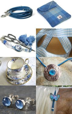 Sapphire Blue For The Birthday Girl by Jen on Etsy--Pinned with TreasuryPin.com