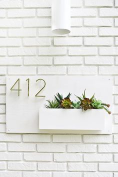 cool Modern Address Planter...