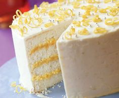 Triple-Lemon Layer Cake Recipe-see lemon curd on pinterest for filling. oh so good. made for my Grandma's 98th birthday celebration with family.