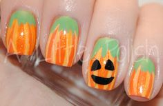 Fall into Autumn: Pumpkin Nails