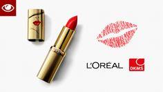 #L'ORÈAL & #DKMS starten Aktion #Spenden #Kussmund #Lippenstift #ColorYourLifeForCharity