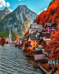Hallstatt, Austria travel destinations 10 Most Beautiful Villages in Europe Places Around The World, The Places Youll Go, Travel Around The World, Places To Go, Europe Places, Beautiful Places To Travel, Wonderful Places, Dream Vacations, Vacation Spots