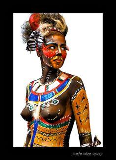 Étnico-africano (dos fotos)