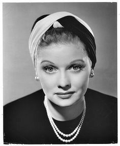 Lucy in a Turban | A very different look for Lucille Ball in the 1940's