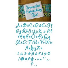 DBJJ 744 Inspiration Embroidery Font.75 inch, 1 inch,  1.25 inch, 1.5 inch, 1.75 inch, 2 inch, and 2.5 inch