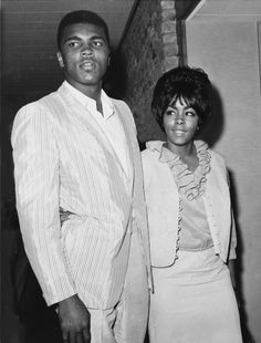 A 1965 image of Boxer Muhammad Ali in the USA, with his first wife Sonji Roi. (AP Photo/Str)