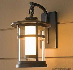 Ideas Exterior Lighting Fixtures Restoration Hardware For 2019 Front Door Lighting, Garage Lighting, Porch Lighting, Home Lighting, Lighting Ideas, Craftsman Outdoor Lighting, Backyard Lighting, Overhead Lighting, Exterior Light Fixtures