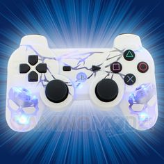 Our extreme edition modded controllers just keep getting MORE EXTREME. Lightning AND skulls?? You can't get much more extreme than this. This new PS3 modded controller is sure to light up your room while you bring in the frags. Features our illuminating skulls design with all the lightning you NEED. GET IT WHILE IT'S HOT!!! Watch the video now: http://www.youtube.com/watch?v=sTCjnKhUe7E=share