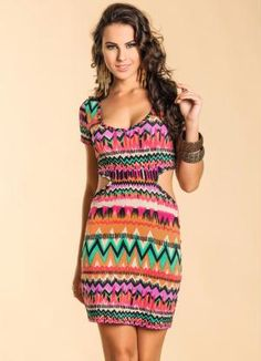 Vestido Estampa Étnica