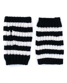 GUCCI Striped Wool Gloves