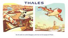 Dos de cada tres vuelos despegan y aterrizan con los equipos de Thales.