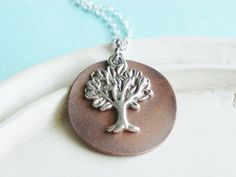 Silver Necklace  WIllow Tree Necklace  The Giving by linkeldesigns, $23.00