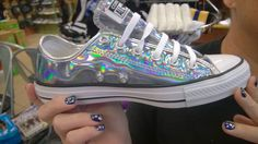 I found these holo converse at Journeys shoe store for $60      #simplynailogical