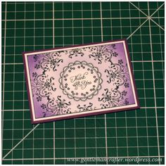 So far I have been creating some quite sizable projects with the Inkadinkado Stamping Gear from EK Success however a lovely lady called Suzanne, from Australia, recently contacted me via my Faceboo…