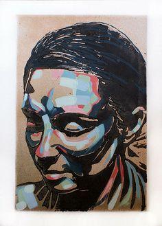 Hayley Two Layer Lino Print with Stencil and Hand Finishing Size Unframed: x 355 mm POA Linoprint, Ap Art, Linocut Prints, Woodblock Print, Art Studios, Art Lessons, Art Inspo, Printmaking, Screen Printing