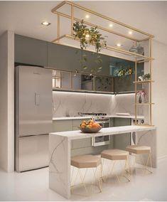 Kitchen Room Design, Home Room Design, Kitchen Cabinet Design, Modern Kitchen Design, Home Decor Kitchen, Interior Design Kitchen, Kitchen Furniture, Home Kitchens, Tiny Bedroom Design