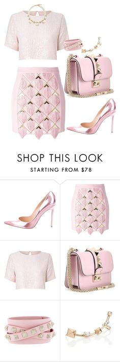 """pink"" by dreamer3108 on Polyvore featuring Gianvito Rossi, Balmain, True Decadence, Valentino, Pink and pastel"