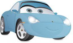 blue Sally race car vector