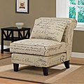 Signature Tan Linen Slipper Chair | Overstock.com Shopping - The Best Deals on Living Room Chairs