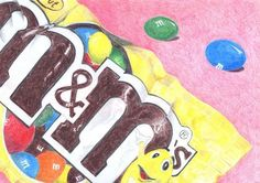 Candy Wrappers drawing for high school instead of bring fabrics or the classic piece of popcorn