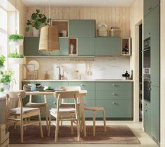 Kitchen Room Design, Kitchen Interior, Apartment Kitchen Decorating, Corner Base Cabinet, Corner Desk, Base Cabinets, Repainted Kitchen Cabinets, Gray Cabinets, Modern Cabinets