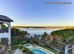 Lake Travis Waterfront Home #luxury #homes #house #backyard #pool #design #architecture #home #patio