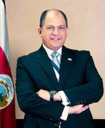 This is the president of  Costa Rica, Luis Guillermo Solis who was elected in 2014