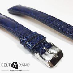 My favorite colour - Navy Blue on Ostrich Shin. My Favorite Color, My Favorite Things, Leather Working, Bespoke, Navy Blue, Belt, Colour, Watches, Handmade