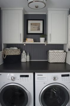 Small Laundry Room Inspirations - Happy Happy Nester