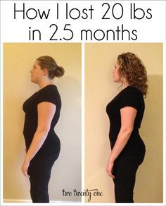 How I shed 20 pounds in 2.5 months!
