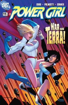 Power Girl Ultra-Humanite returns—and in the body of Power Girl's friend, Terra! Can Power Girl return Terra's brain to Terra's own body before the clock runs out? Meanwhile, Satanna goes through a bestial transformation. Dc Comics, Comics Anime, Comics Girls, Power Girl Comics, Power Girl Dc, Comic Book Covers, Comic Book Heroes, Comic Books Art, Dc Heroes