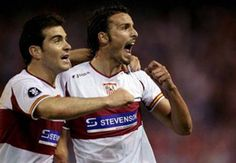 2006. UEFA Cup Semifinal. Sevilla vs. Schalke 04. Antonio Puerta (R.I.P.), in the final moments of the match, received a long ball and struck it with his left foot, for the 1–0 final win.