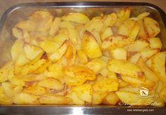 Preparare cartofi aurii la cuptor-etapa 3 Macaroni And Cheese, Shrimp, Chicken, Meat, Ethnic Recipes, Food, Romanian Food, Cooking Recipes, Cooking