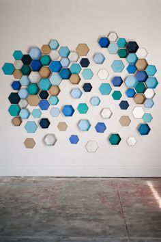 How to: Geometric Hexagon Backdrop for a modern, colorful wedding by Michelle Edgemont