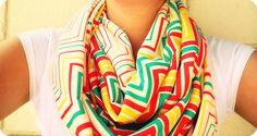 super easy DIY scarves