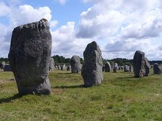 Megalithic site around the French village of Carnac, in Brittany, consisting of alignments, dolmens, tumuli and single menhirs. The more than 3,000 prehistoric standing stones were hewn from local rock and erected by the pre-Celtic people of Brittany, and are the largest such collection in the world. The stones were erected at some stage during the Neolithic period, probably around 3300 BC, but some may date to as old as 4500 BC. Carnac, Bretagne (Brittany), France.