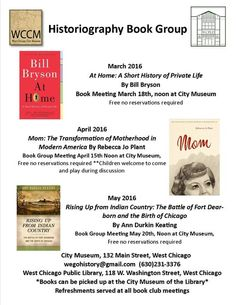 Historiography Book Group — Friends of the West Chicago City Museum