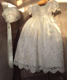 Christening Dress-baptism baby girl lace dress-Hollypresentation-Daniella