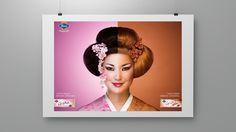 Campaign for Geisha chocolate.