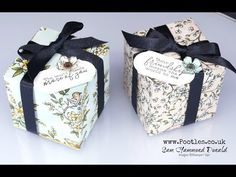 Stampin' Up! #1 Demonstrator Pootles -Bird Ballad Cube Box Tutorial Cubes, Corporate Gift Baskets, Corporate Gifts, Stampin Up, Craft Box, 3d Craft, Craft Videos, Gift Boxes, Card Boxes