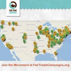 Did you know there are over 150 @Fairen Moore Trade Campaigns on campuses & communities across the country? Join the movement today at www.FairTradeTownsUSA.org! #FairTrade