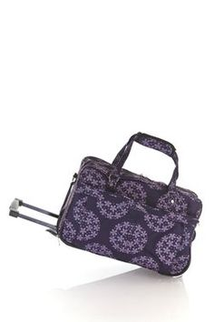 057729539b29 Image2 of Cabrelli Purple Flowers 46cm Wheel Bag